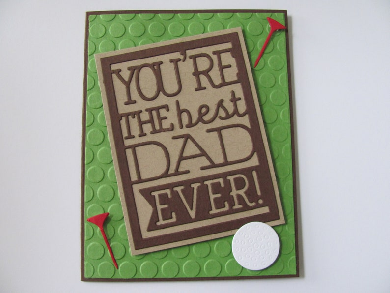 Fathers Day Golf Cards Handmade