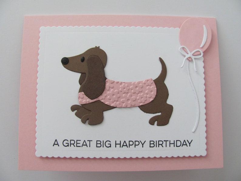 Dachshund Birthday Card Happy Cards