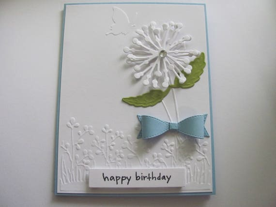Happy Birthday Dandelion Card Cards Handmade