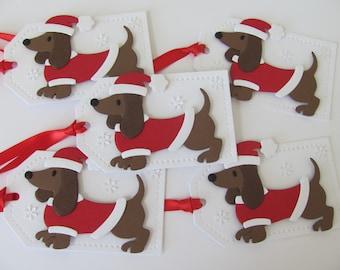 Dachshund Gift Tags, Dachshund Dog Tags, Holiday Gift Tags, Christmas Dachshund Tags, Dachshund Gift, Dachshund Christmas, Christmas Tags