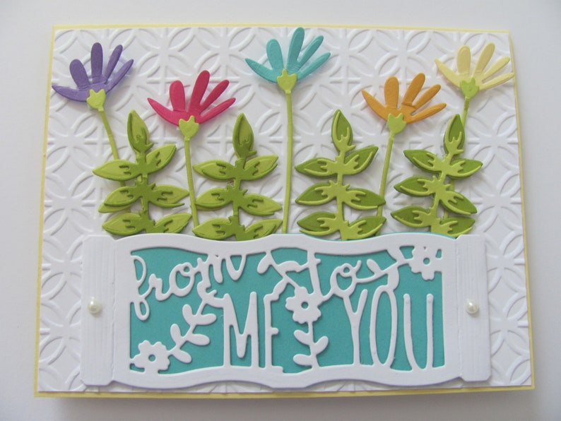 Birthday Card From Me To You Embossed Cards Handmade