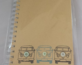Campervan Note Book design 2 - A5 hard backed and spiral bound Copy