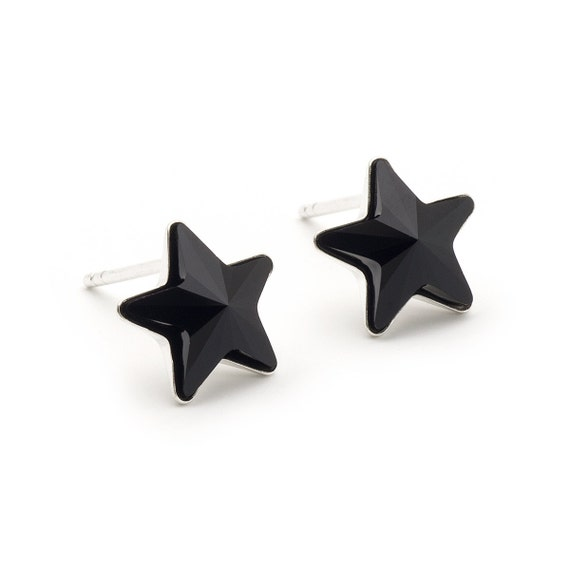 Stars zierliche Sternohrringe glänzende Sterne 925 Silber Ohrstecker 4 mm *süß*