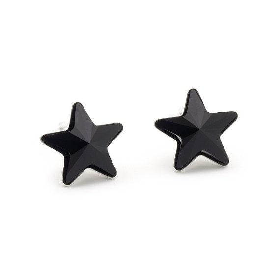 Swarovski Black Star Earrings Star Stud Earrings Crystal  3ce0575e09