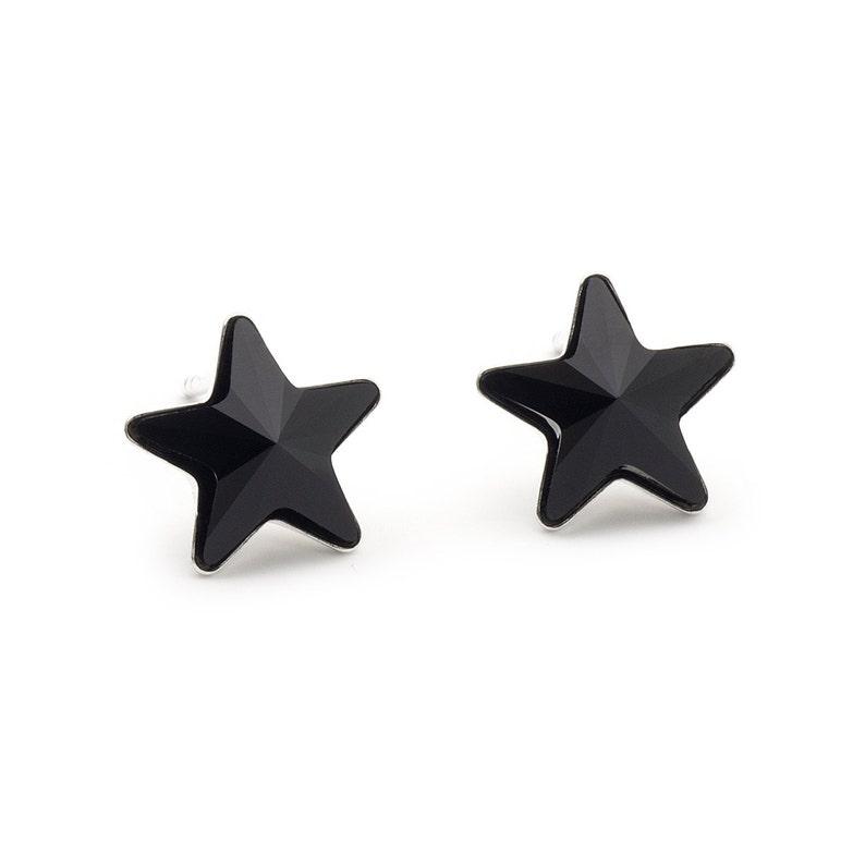 d5c7b1d6d Swarovski Black Star Earrings Star Stud Earrings Crystal | Etsy