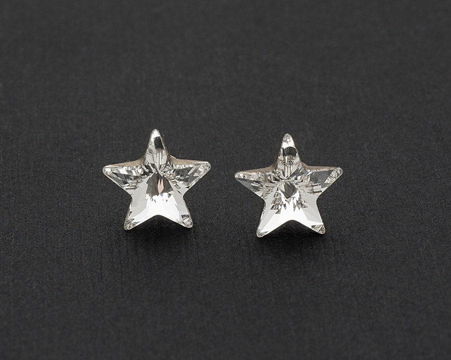 Swarovski Star Earrings Star Stud Earrings Crystal Earrings  0ce8381039