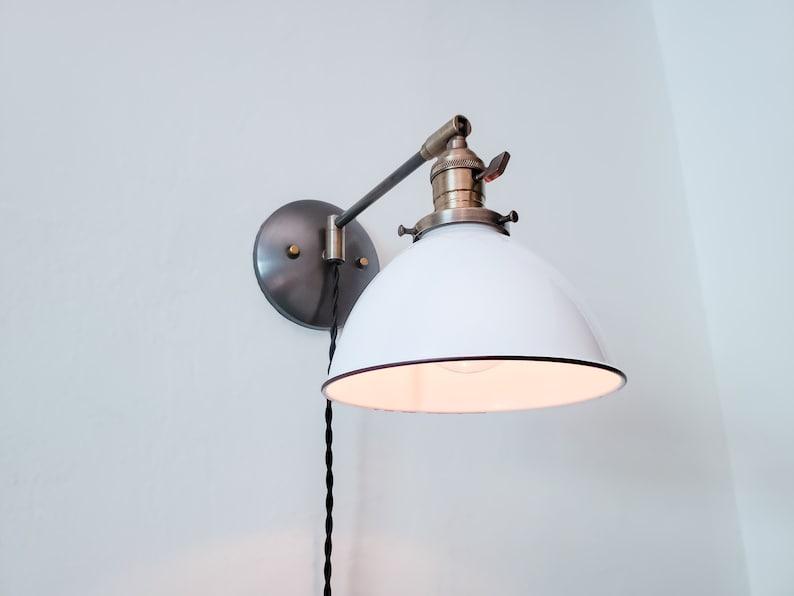 Swing Arm Bedside Reading Wall Light, Bedside Reading Wall Lamps