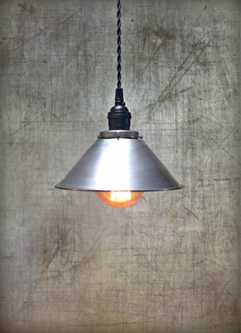 Rustic Metal Hanging Loft Lamp Industrial Unfinished Steel Ceiling Pendant Light