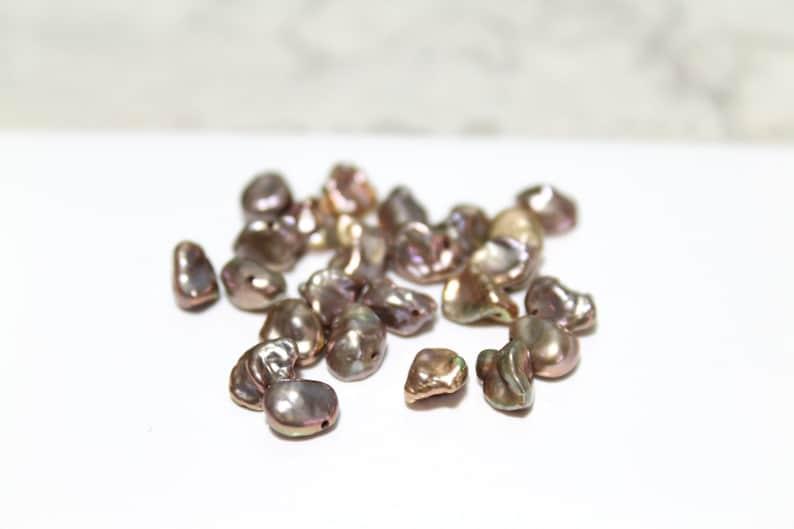 Bronze Freshwater Keshi Pearls 5-9mm  10pcs