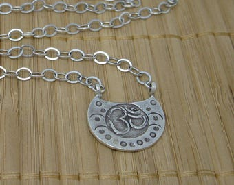 Om Necklace with Sterling Silver