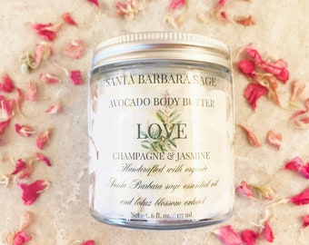 Pink Champagne  & Jasmine Whipped Avocado Butter by Santa Barbara Aromatics |Gift for Women | Gift for Her | Gift for Mom | Bridesmaid Gift