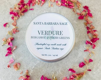 Bergamot Sage Soy Candle by Santa Barbara Aromatics | Aromatherapy | Gift for Her | Bridesmaid Gift | Essential Oil Candle
