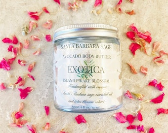 Island Pikake Blossom Whipped Avocado Butter by Santa Barbara Aromatics |Gift for Mom | Gift for Her | Bridesmaid Gift | Essential Oil