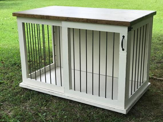 Custom Dog Kennel Dog Crate Furniture Sliding Door Kennel