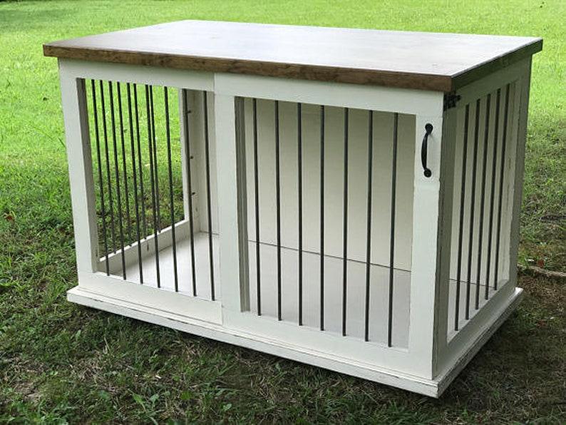 Dog Crate Furniture, Pet Furniture, Custom Dog House, Wood Dog Crate, Dog  Furniture, Custom Dog Bed, Custom Dog Crate, Dog Kennel Furniture