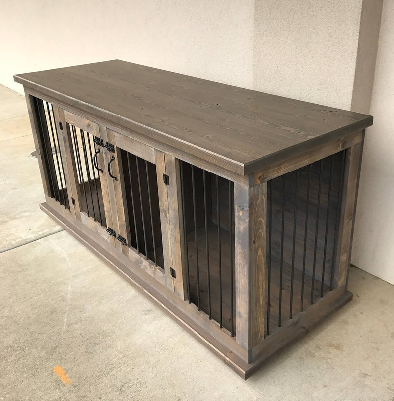 Dog Crate Furniture Pet Furniture Custom Dog House Wood Dog Etsy