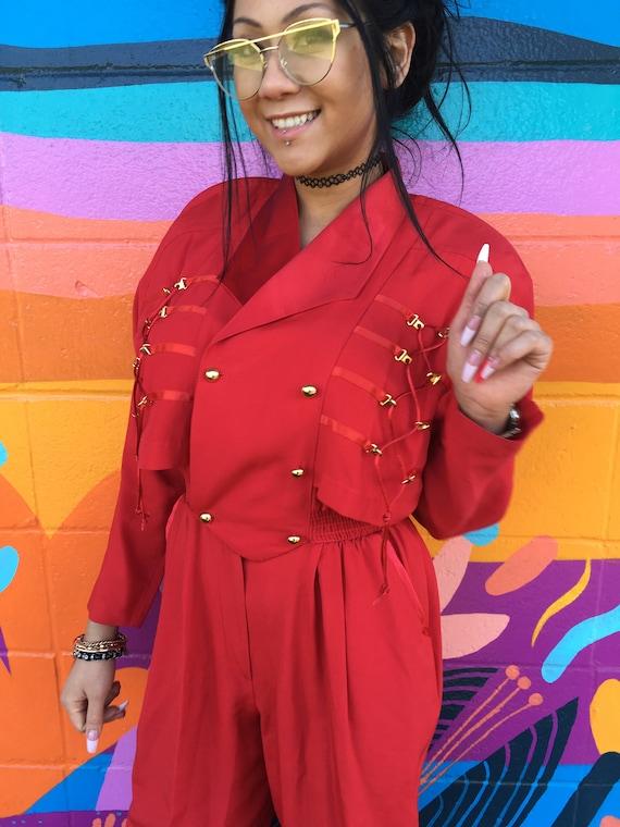 Red vintage jumpsuit