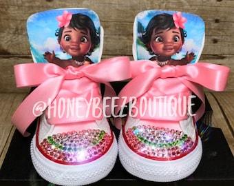 fb9efff79025 Moana Bling Converse ~ Baby Moana ~ Moana Birthday