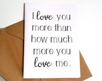 Love You More Card Etsy