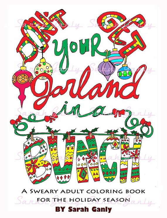 Holiday Swear Word Coloring Book 21 Pages PDF