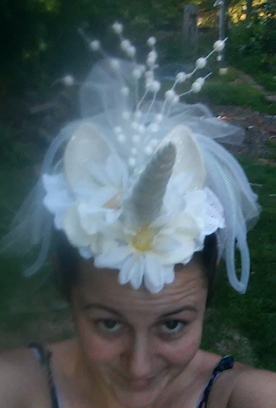 Unicorn Headdress Unicorn Headpiece White Unicorn Horn | Etsy