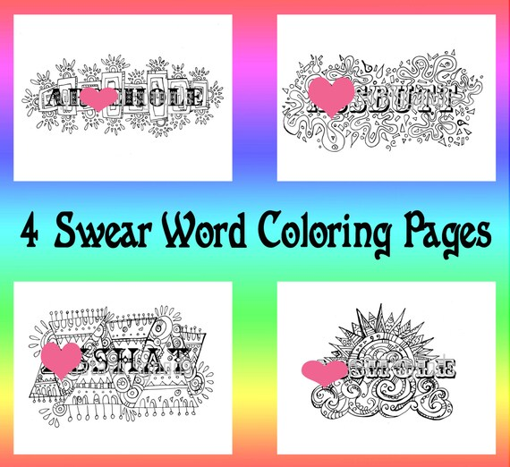 Swear Word Coloring Book Pages Curse