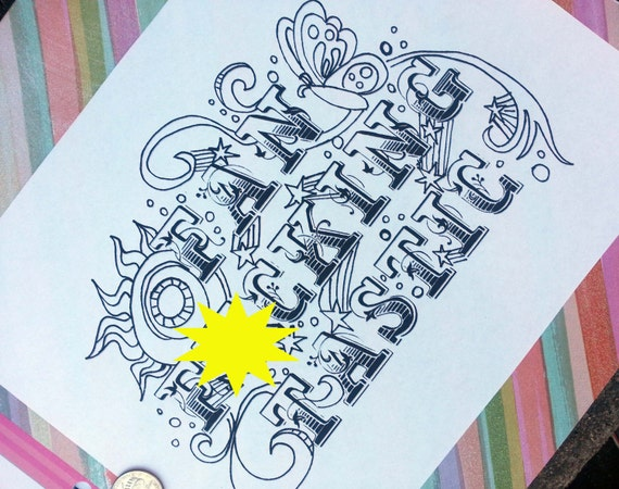 Swear Word Coloring Book Page Fanfckingtastic