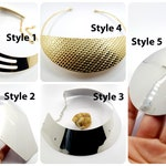 SweetyBijou 5 Styles of Metal Necklace making - Base Shape Tool for Baking - Metal Base for Baking Polymer clay necklace!
