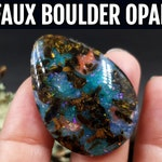 SweetyBijou Video tutorial. Gemstone Imitation. How to make Boulder Opal (Fire Opal) from polymer clay.