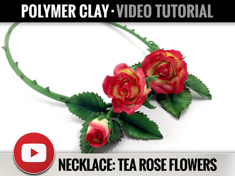 Polymer Clay Tutorial Vol.9: DIY How to make Necklace with image 0