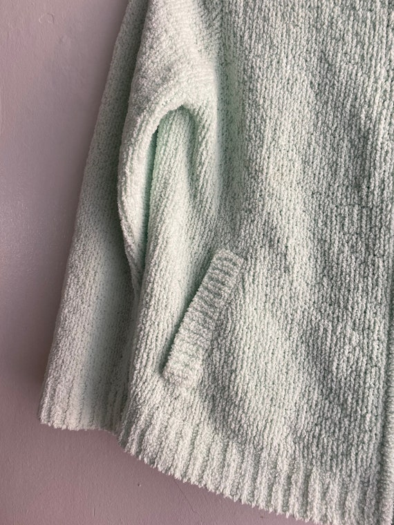 90s Vintage Mint Green Cropped Cardigan Sweater - image 5