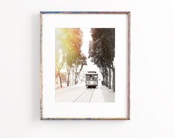 San Francisco Photography, Cable Car Art, San Francisco Print - Unframed, Black and White Photo, Urban Wall Decor, Travel Art | Many Sizes