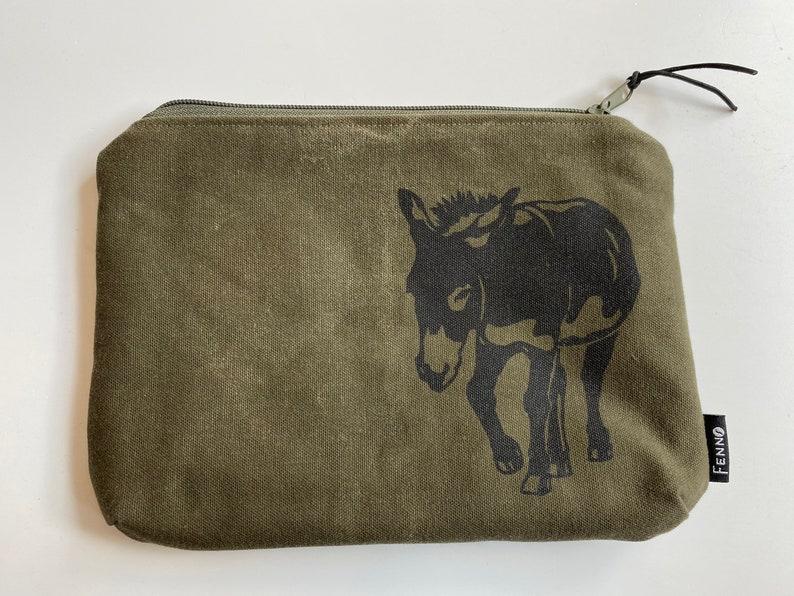 Bag made of duffel bag donkey image 0