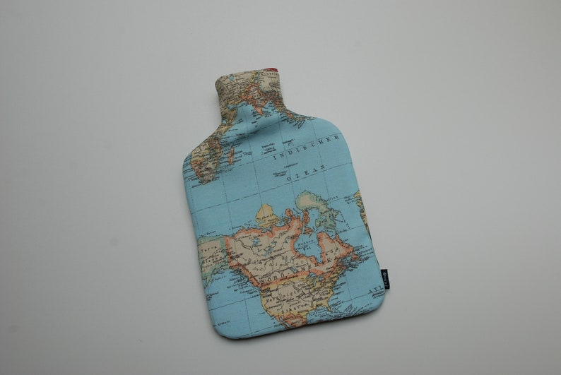 Hot water Bottle world map 2 litres image 0