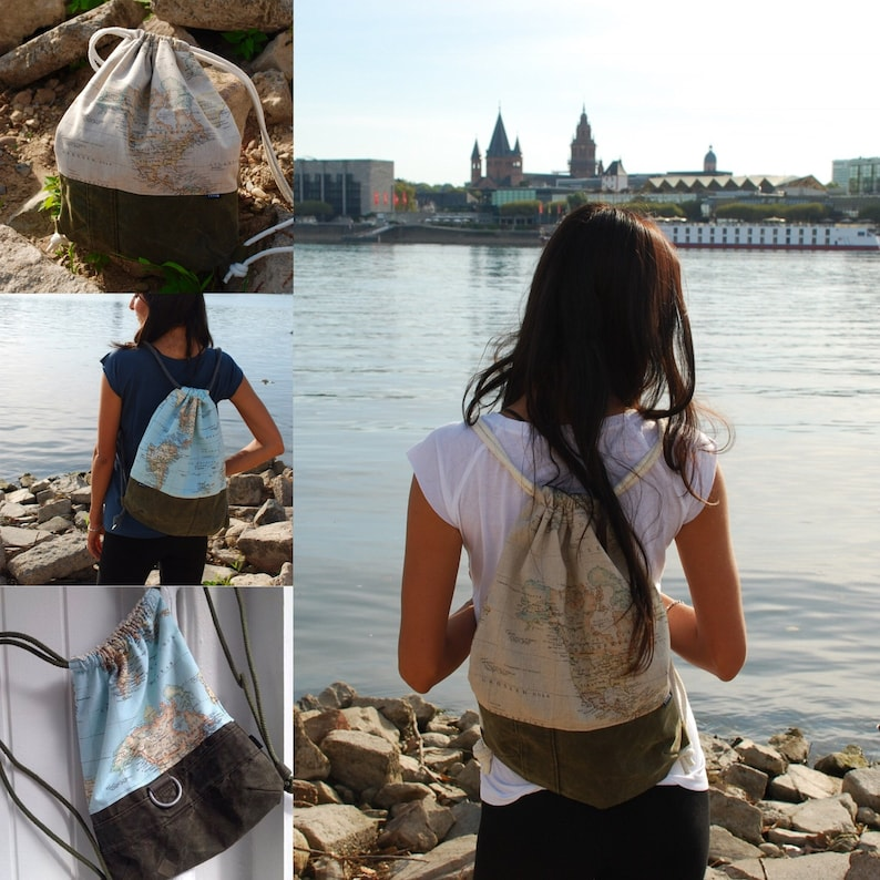 Gym bag with sea bag with different motifs image 0