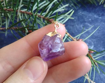 Necklace l Chunky Amethyst