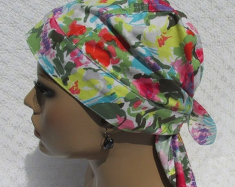 94cc790a6001b Lilly Pulitzer inspired chemo hat