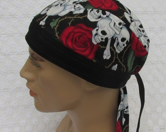 d55ffe9804 Rose and skulls skull cap