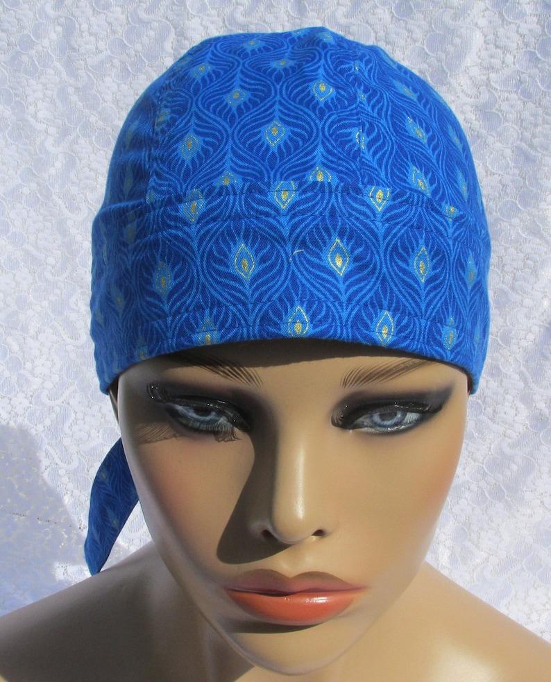 cancer hat cotton terry cloth sweat band Handmade in the USA. doo rag chemo cap chemo headwear Women/'s skull cap