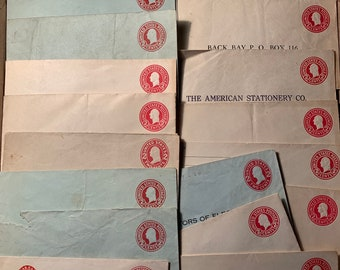 3aae092a15ea 19 George Washington 2 cent Postal Stationary envelopes - uncanceled