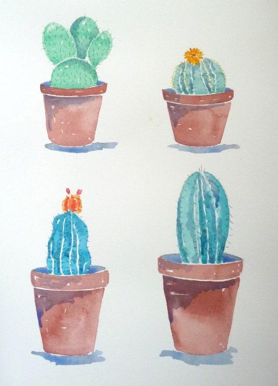 Zeichnen Pflanzen Kakteen Sukkulenten Botanik Botanische Etsy