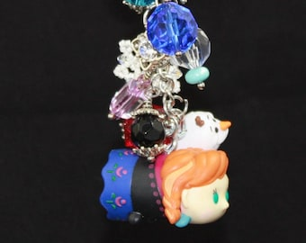 Upcycled Toy Purse Jewelry- Anna, Elsa and Olaf Tsum Tsum