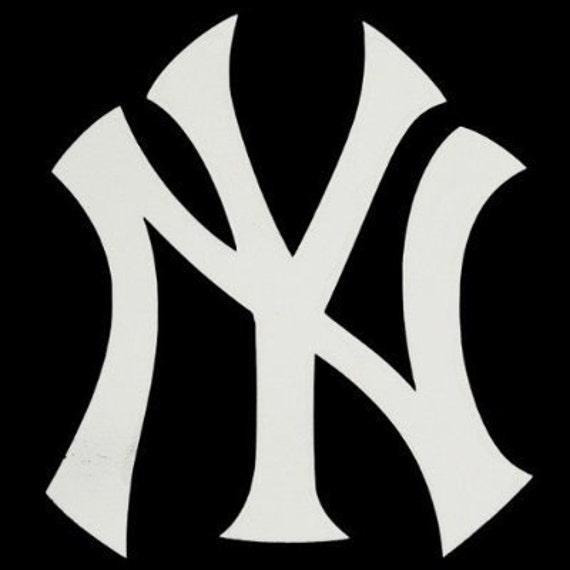 new york yankees ny logo 4 vinyl decal widow sticker for etsy