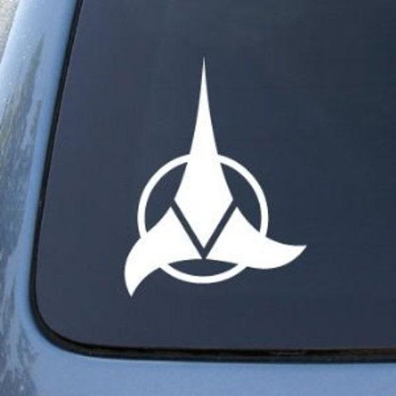 Star Trek Sticker Klingon Alphabet Vinyl Decal
