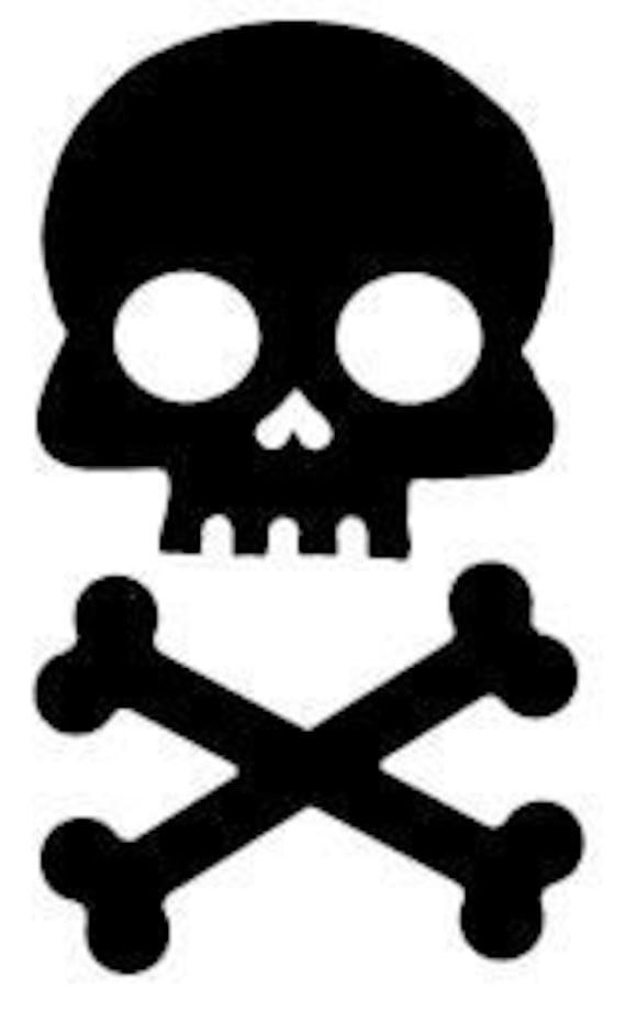 Motorcycle Skeleton Biker Skull Car Truck Window Wall Laptop Vinyl Decal Sticker