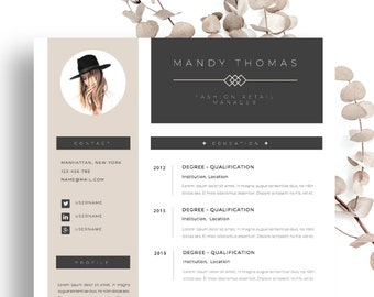 """Resume Template for MS Word & Apple Pages (Mac) 