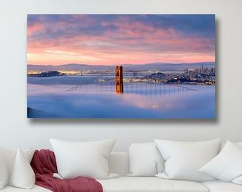 San Francisco Canvas Print, San Francisco Canvas Art, San Francisco Golden Gate Bridge Canvas Wall Art, Large Wall Art San Francisco Photo