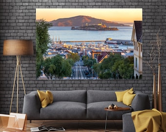 San Francisco Art Photograph - San Fran Bay and Marina Landscape Print from Fisherman's Wharf - Beautiful Home & Extra Large Wall Art Decor