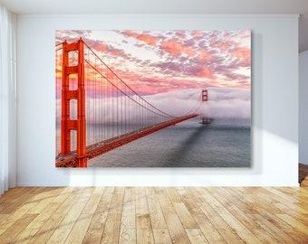 San Francisco Art Print of a Beautiful Golden Gate Sunset -  Golden Gate Bridge Print - San Francisco Decor of a San Francisco Print