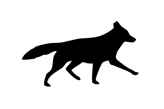 Coyote SVG Howling Coyote Clipart Coyote Silhouette Cut File Full Body Coyote Svg Jpg Eps Pdf Png